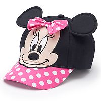 Disney's Minnie Mouse Toddler Girl 3D Ears Baseball Hat