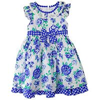 Toddler Girl Nannette Floral Swiss-Dot Dress