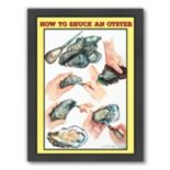 "Americanflat ""How To Shuck An Oyster"" Framed Wall Art"