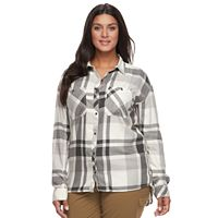 Plus Size Columbia Wildscape Flannel Plaid Roll-Tab Shirt
