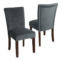 HomePop Velvet Parson Dining Chair 2-piece Set
