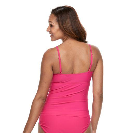 Pink Envelope Maternity Solid Tankini Swim Set