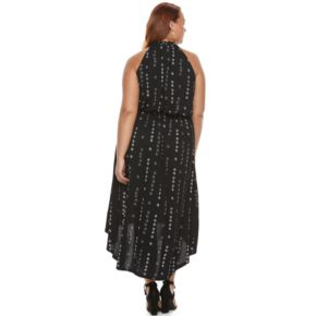 Plus Size Apt. 9® Printed High-Low Maxi Dress