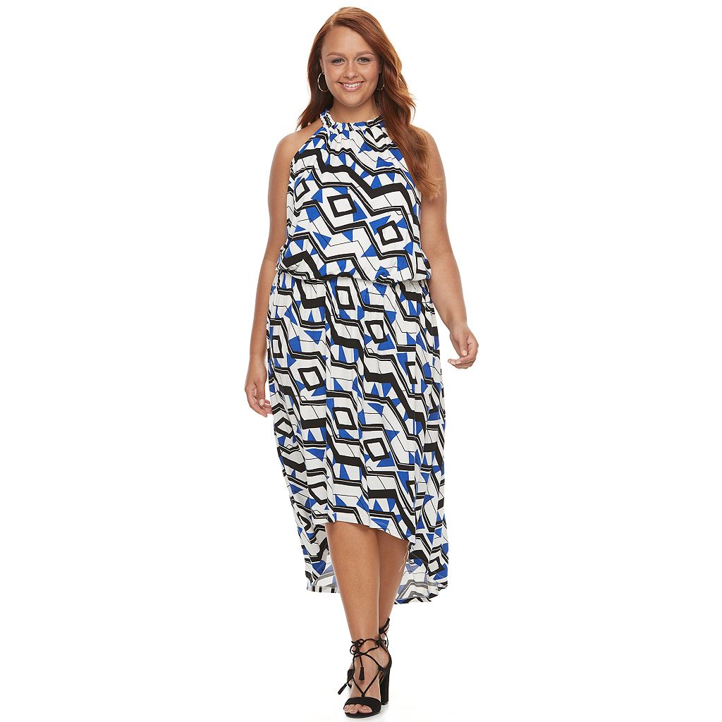Plus Size Apt. 9® Printed High-Low Maxi Dress