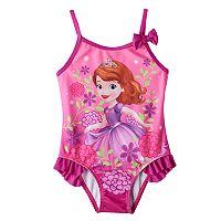 Disney's Sofia the First Toddler Girl Ruffle One-Piece Swimsuit