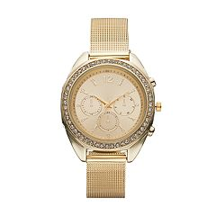 Women's Mesh Crystal Watch