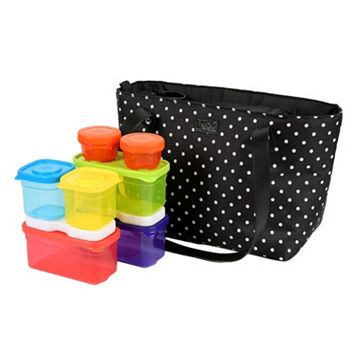 L.N.C.H. Commuter Lunch Tote & Portion Control Food Storage Set