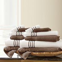 Pacific Coast Textiles 12 pc Quick Dry Stripe Towel Set
