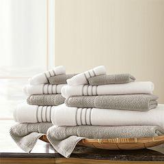 Pacific Coast Textiles 12-piece Quick Dry Stripe Towel Set