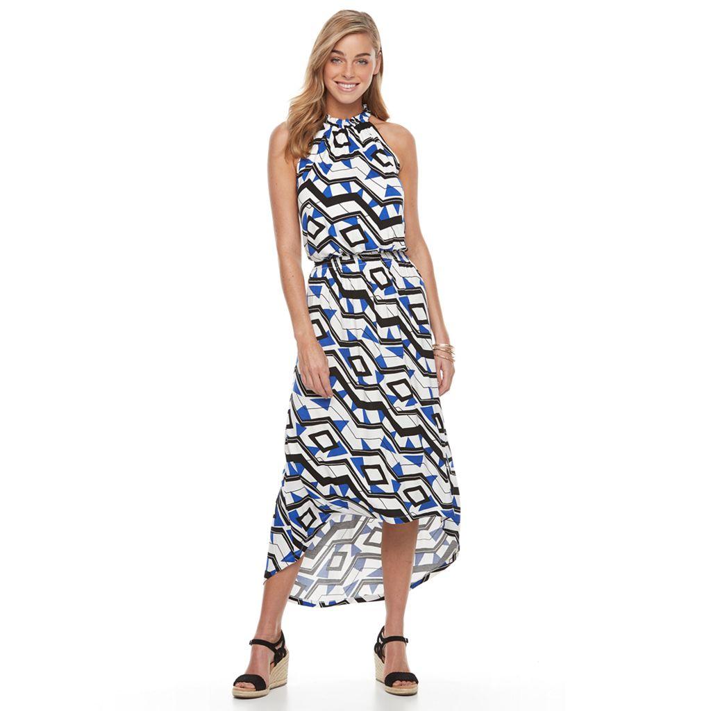 Women's Apt. 9® Print High-Low Maxi Dress