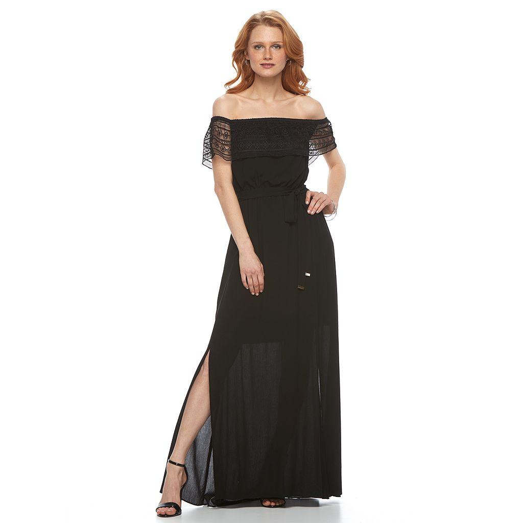 Women's Apt. 9® Off-the-Shoulder Lace Maxi Dress