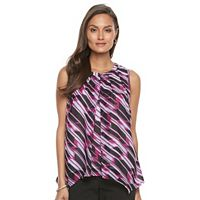 Women's Dana Buchman Pleated Mixed-Media Tank