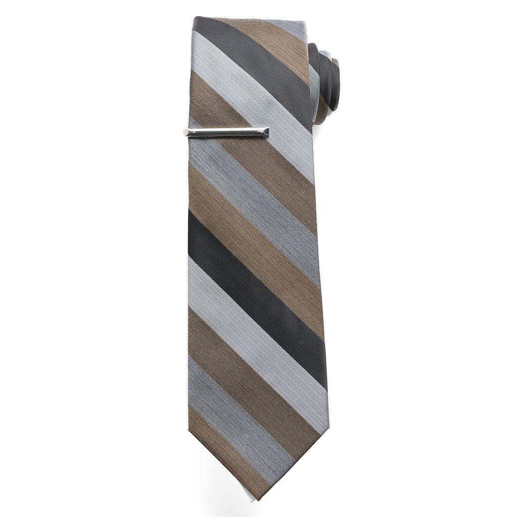 Apt. 9® Sapphire Stripe Tie & Tie Bar - Men