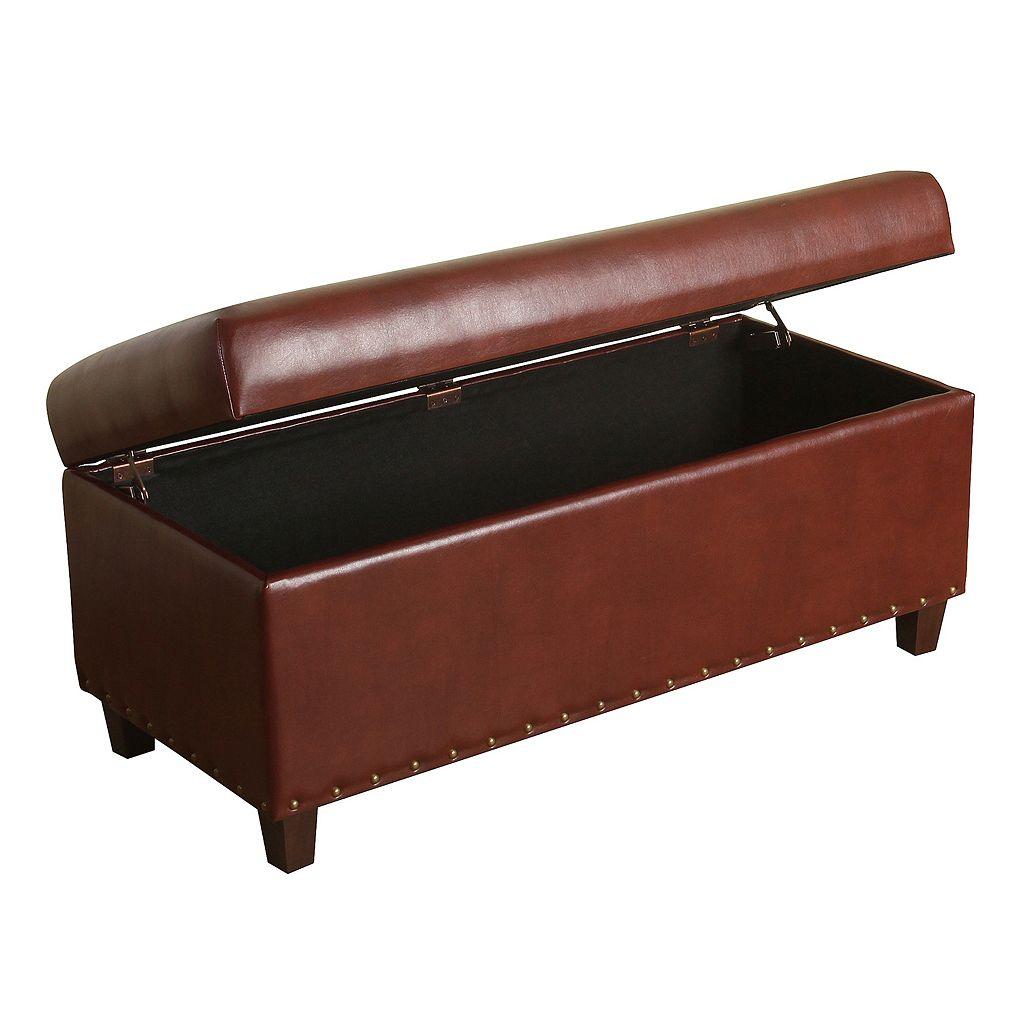 HomePop Branford Storage Ottoman Bench