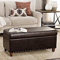 HomePop Branford Storage Ottoman Bench