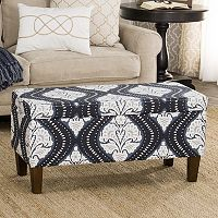 HomePop Bailey Printed Storage Ottoman Bench