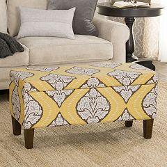 HomePop Bailey Printed Storage Ottoman Bench