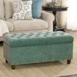 HomePop Ainsley Tufted Storage Ottoman Bench