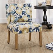 HomePop Parker Printed Accent Chair & Pillow 2 pc Set