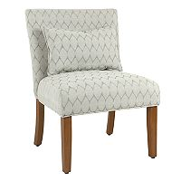 HomePop Parker Printed Accent Chair & Pillow 2-piece Set