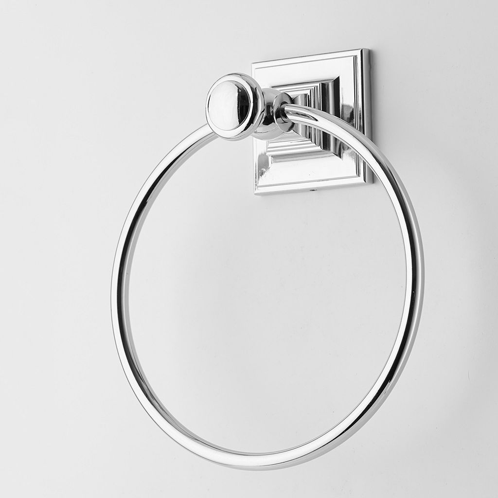 Elegant Home Fashions Chrome Towel Ring