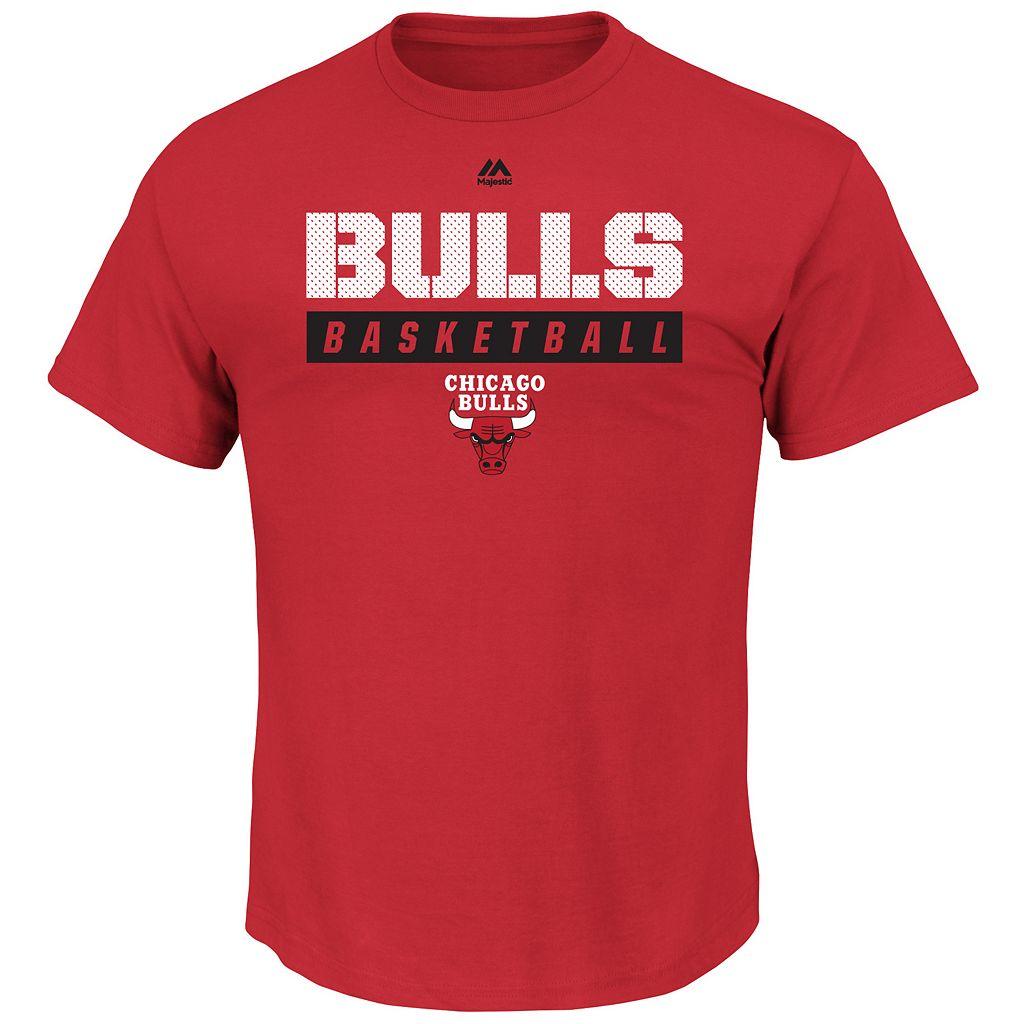 Boys 8-20 Majestic Chicago Bulls Basketball Tee