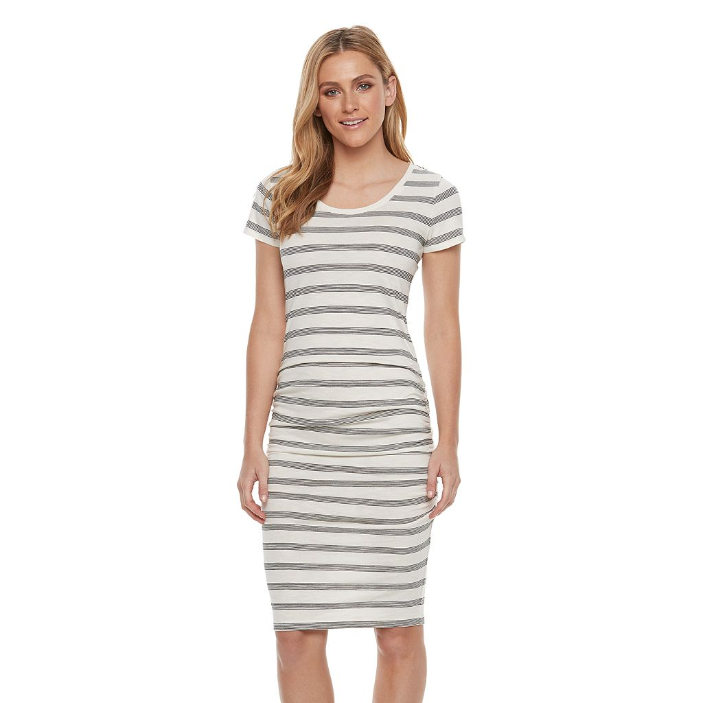 Women's SONOMA Goods for Life™ Striped Midi T-Shirt Dress