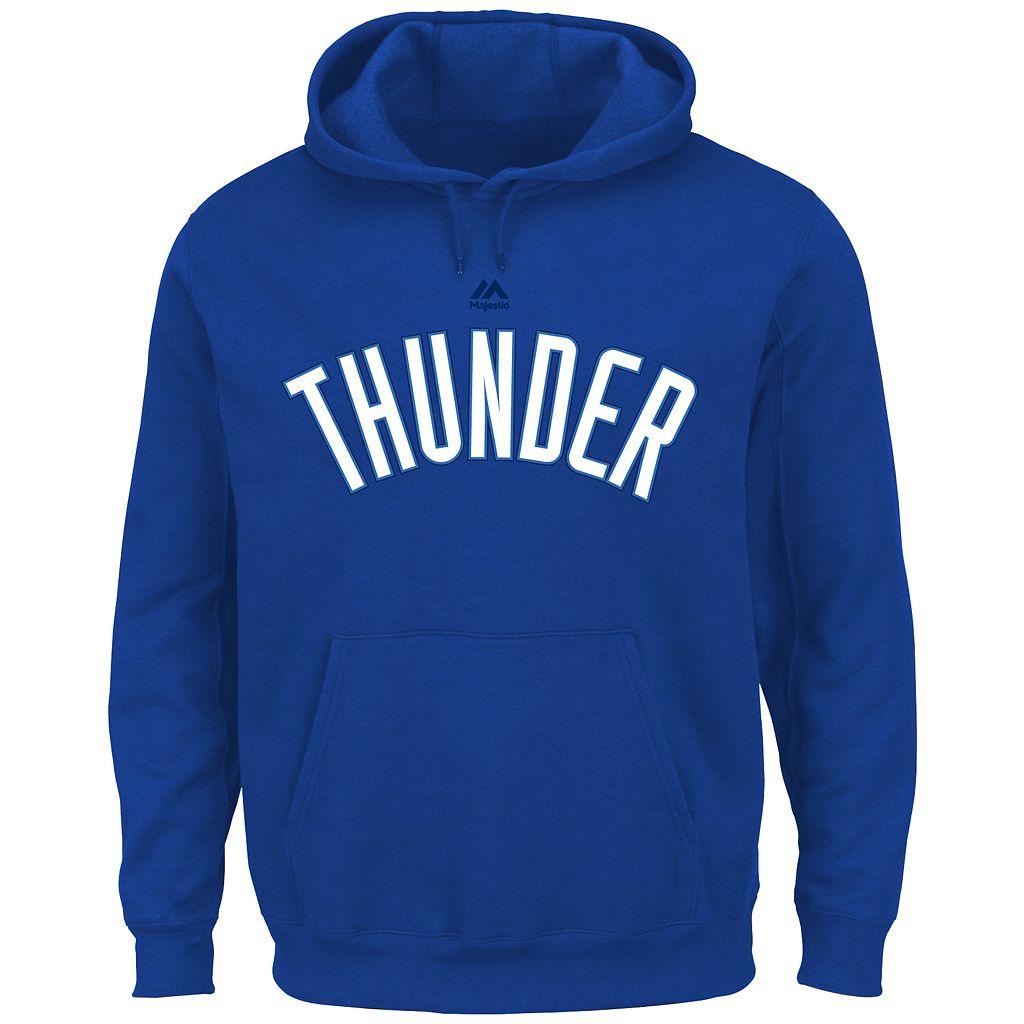 Big & Tall Majestic Oklahoma City Thunder Logo Hoodie