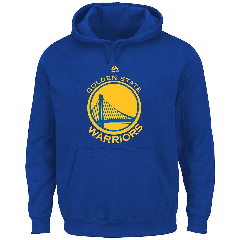 Big & Tall Majestic Golden State Warriors Logo Hoodie