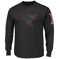 Big & Tall Majestic Chicago Bulls Hit Tee