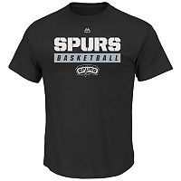 Big & Tall Majestic San Antonio Spurs Team Color Tee