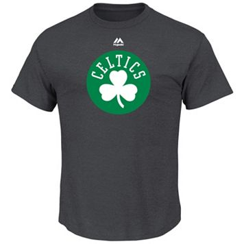 Big & Tall Majestic Boston Celtics Logo Heathered Tee