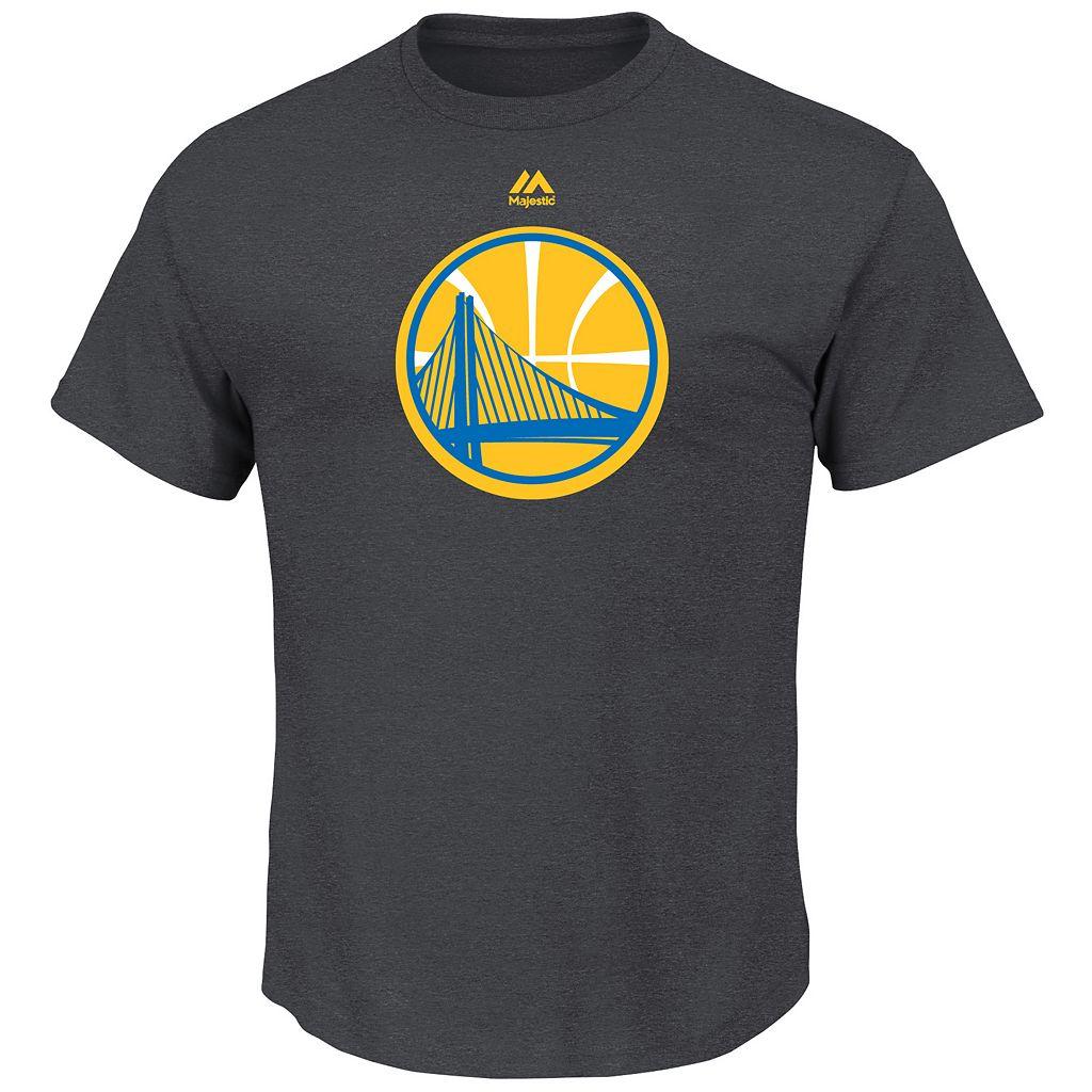 Big & Tall Majestic Golden State Warriors Logo Heathered Tee