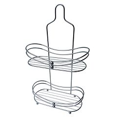 Elegant Home Fashions Chrome Rounded Edge Shower Caddy