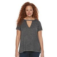 Plus Size Rock & Republic® Cutout Burnout Tee