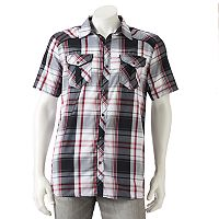 Men's Burnside Plaid Button-Down Shirt