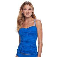 Women's Apt. 9® Striped Ruched Bandeaukini Top