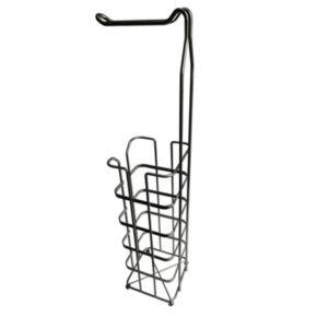 Elegant Home Fashions Silver Finished Toilet Paper Rack