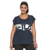 Plus Size FILA SPORT® Step Hem Graphic Muscle Tee