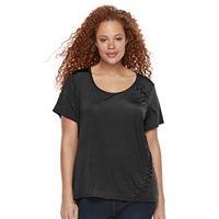 Plus Size Rock & Republic® Laced Detail Tee