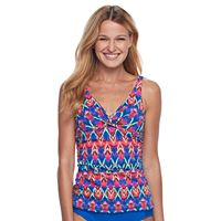 Women's Apt. 9® Striped Twist-Front Tankini Top