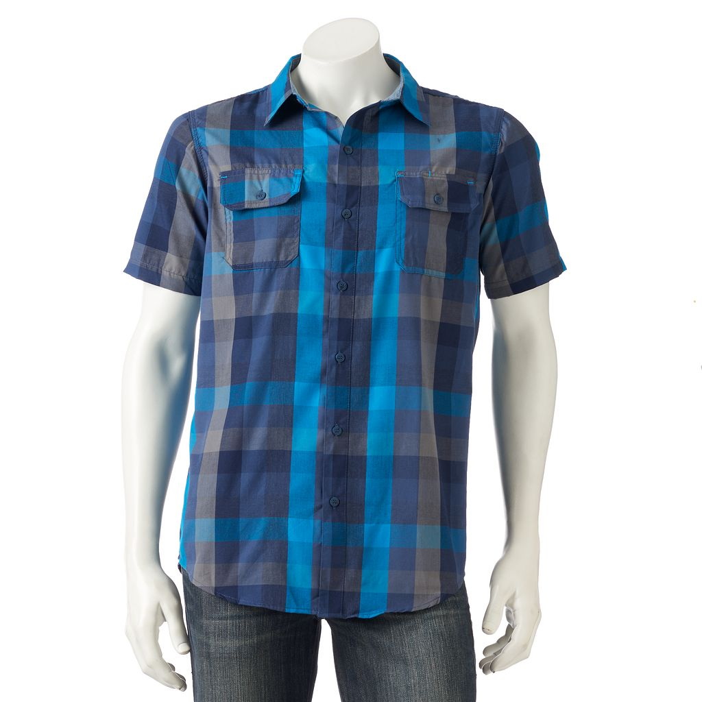 Men's Burnside Checked Button-Down Shirt
