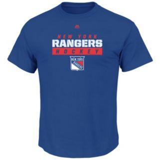 Big & Tall Majestic New York Rangers Team Color Tee