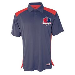 Men's Stitches Boston Red Sox Interlock Polo