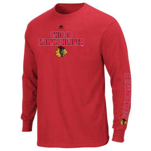 Big & Tall Majestic Chicago Blackhawks Team Color Long-Sleeve Tee