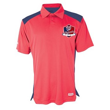 Men's Stitches Washington Nationals Interlock Polo