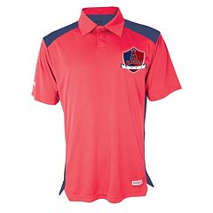 Men's Stitches Los Angeles Angels of Anaheim Interlock Polo