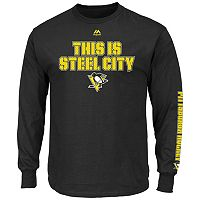 Big & Tall Majestic Pittsburgh Penguins Team Color Long-Sleeve Tee