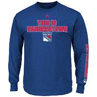 Big & Tall Majestic New York Rangers Team Color Long-Sleeve Tee