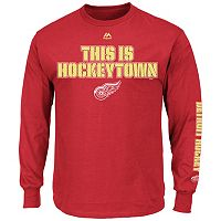 Big & Tall Majestic Detroit Red Wings Team Color Long-Sleeve Tee
